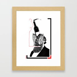 Wine & Grizzle Framed Art Print