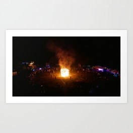 Burning the Effigy Art Print