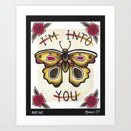 I'm Into You I Art Print