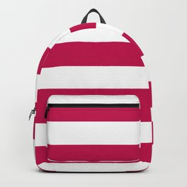 Pictorial carmine - solid color - white stripes pattern Backpack