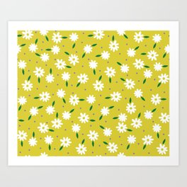 spring, yellow Art Print