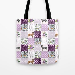 Australian Cattle Dog cheater quilt pattern dog lovers by pet friendly Tote Bag