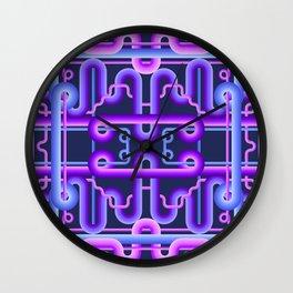 LOOPS III - C.06 Dark V. Pattern 1 - Bluish Wall Clock