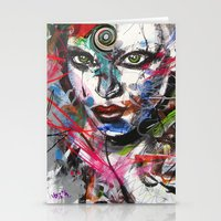 third eye Stationery Cards featuring third eye by yossikotler