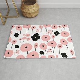 Pink Poppies Rug
