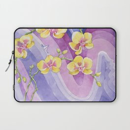 Orchids_Above a waves Laptop Sleeve