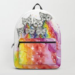 Kittens Puking Rainbows Backpack