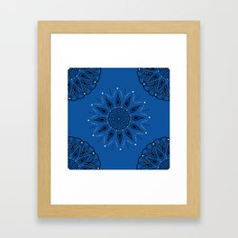 Central Mandala Blue Lapis Framed Art Print