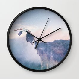Falling Stars Surreal Levitation Off an Australian Cliff-Stars and a Levatating Woman Wall Clock