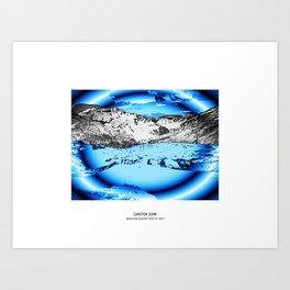 MOUNTAIN GLACIER TOUR VII Art Print