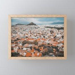 View of Acropolis in Athens Fine Art Print Framed Mini Art Print
