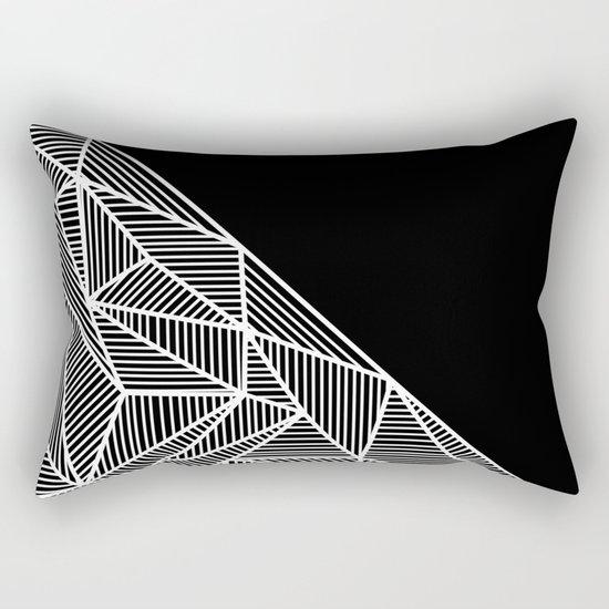 B Rays Geo BW Rectangular Pillow