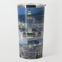 The Hajj is an annual Islamic pilgrimage to Mecca, Saudi Arabia - the holiest city for Muslims Travel Mug