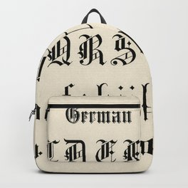 German gothic fonts from Draughtsmans Alphabets by Hermann Esser (1845-1908) Backpack