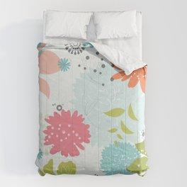 Bright Flowers Comforters