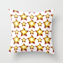 Stars with fire Throw Pillow