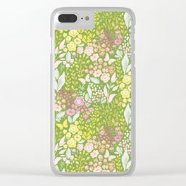 Bright Spring Floral Clear iPhone Case