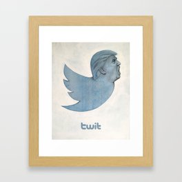 Twit Trump Framed Art Print