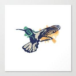 Hummingbird - Collage Canvas Print