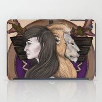 warcraft iPad Cases featuring Lions! Make You Brave by Emily Anne Daugherty