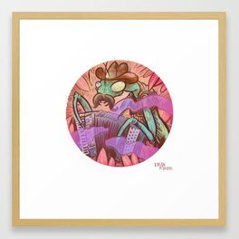 Playing Mantis Framed Art Print