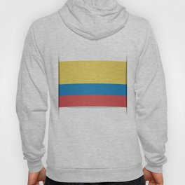 Flag of Colombia. The slit in the paper with shadows. Hoody