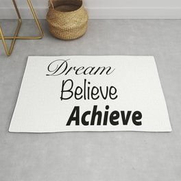 Dream Believe Achieve Bold Rug