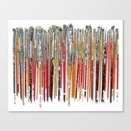 Twenty Years of Paintbrushes Canvas Print