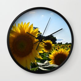 Sunflowers & Sunshine Wall Clock