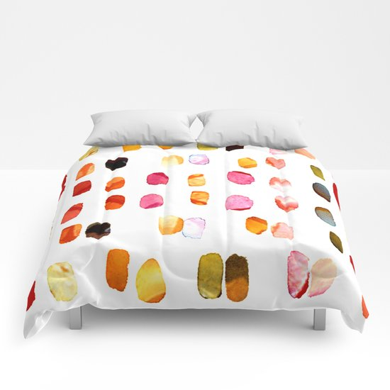 strokes of colors Comforters