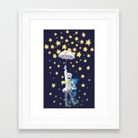 dmmd Framed Art Prints featuring DMMd :: The stars are falling by Magnta