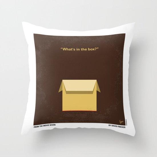 No233 My Seven minimal movie poster Throw Pillow