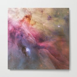 Cosmic clouds and stellar winds (LL Orionis and Orion Nebula flow) (NASA/ESA Hubble Space Telescope) Metal Print