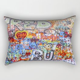 Prague's Wall Rectangular Pillow