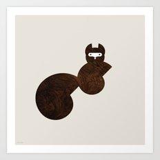 Minanimals: Squirrel Art Print