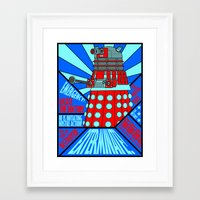 doctor who Framed Art Prints featuring Doctor Who by Alli Vanes
