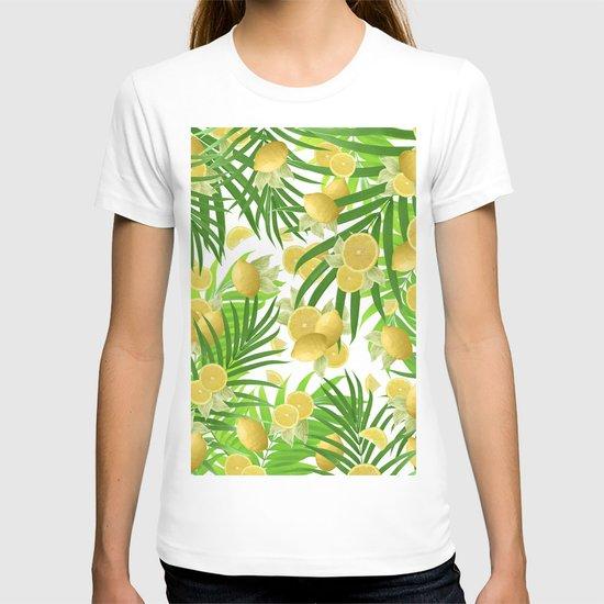 Summer Lemon Twist Jungle #2 #tropical #decor #art #society6 by anitabellajantz
