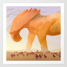 Desert Giant Art Print