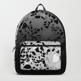 Concrete and Marble Mix Black Gradient Backpack