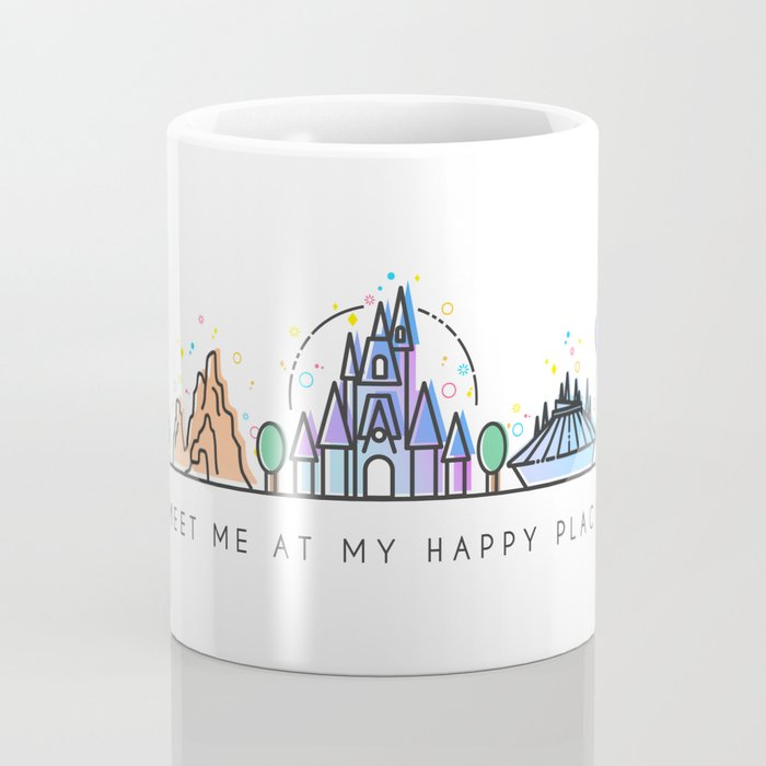 Meet me at my Happy Place Theme Park Skyline Coffee Mug
