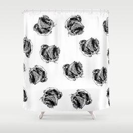 Griffon Bruxellois pattern Shower Curtain
