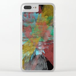 Abstract 123 Clear iPhone Case