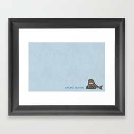 Walrus Sighting Framed Art Print