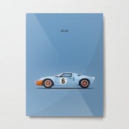 The GT40 Metal Print
