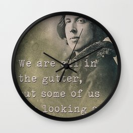 Inspiring quote Wall Clock