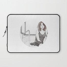 closed eyes - woman dotwork portrait Laptop Sleeve