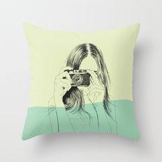 Woman Color 11 Throw Pillow