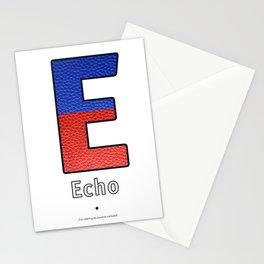 Echo - Navy Code Stationery Cards
