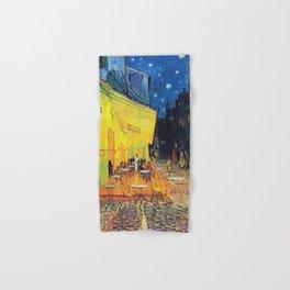Vincent Van Gogh - Café Terrace at Night (new color editing) Hand & Bath Towel