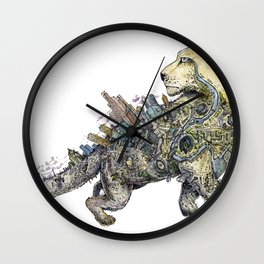 Independent leopard as a symbol of Kazakhstan Wall Clock